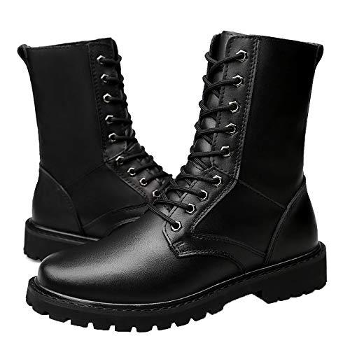 Aperta Gli All'aria Uomini Tattici Combattere Leather Boots Lace Stivali Escursionismo Lavoro Militare Desert Up Sport Black01 Campeggio HGDR Dell'esercito px1fqSwnw8