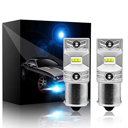 BEAMTECH 1156 LED Bulb, CSP Chips 6500K 800 Lumens P21W 7506 BA15S Xenon White Extremely Super Bright Back-Up Brake Light by BEAMTECH