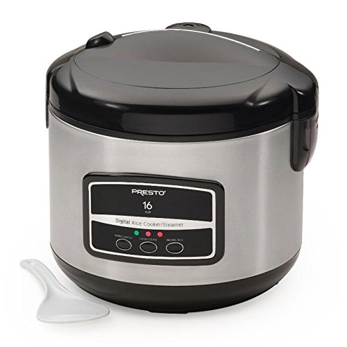 Presto 05817 12 Cup Rice Cooker Steamer, Black