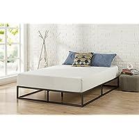 Zinus Joseph Modern Studio Marco de cama de bajo perfil Platforma de 10 pulgadas /Base de colchón /Resorte de caja opcional /Soporte de listones de madera, King