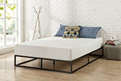 This sturdy modern Studio platform a mattress foundation is designed for strength and style. Perfect for higher profile mattresses or those preferring a modern style. The extra strength steel framed mattress foundation by Zinus features woode...