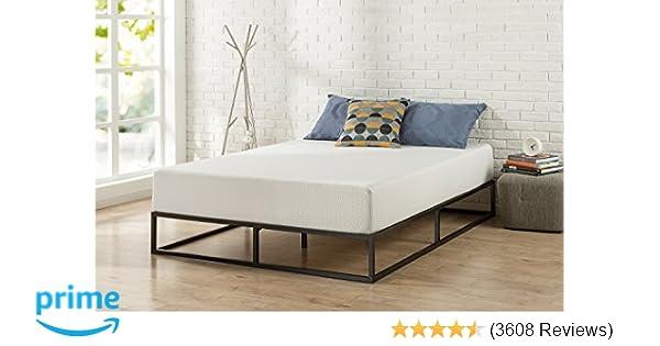 Zinus Joseph Modern Studio 10 Inch Platforma Low Profile Bed Frame Mattress Foundation Boxspring Optional Wood Slat Support Queen