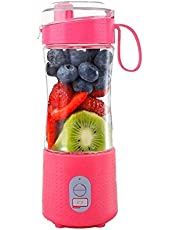 Portable Blender, Smoothie Blenders, Personal Size Blender USB Rechargeable Smoothies and Shakes Juicer Cup, 4000mAh Battery Strong Power - Red