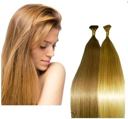 "I-Tip Hair Extensions made with our European Remy Human Hair Pre-Tipped for Micro Links - 22"" Natural Silky ""AAA"" Grade 100 Strands 0.65 Gr. in your Choice of Color -  The Hair Extension Boutique, 1038Ab"