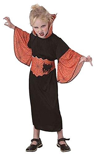 Girls Halloween Spiderella Ghost Party Dress Children Orange Black Costume#(Spiderella Orange Black Costume#Large(10-12 (Baby Spider Halloween Costumes Uk)
