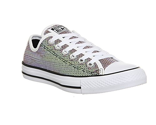 Converse Chuck Taylor All Star - Zapatos de lona, unisex Orange Bitters White Black Sequin Exclusive