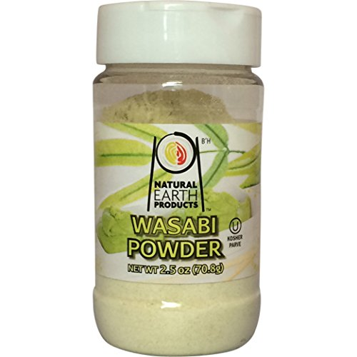 Wasabi Powder Spice - Sushi Powder and Multi Purpose - Certified Kosher - 2.46 Oz Jar - From Natural Earth Products