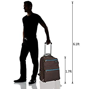 HollyHOME 20 inches Large Storage Multifunction Waterproof Travel Wheeled Rolling Backpack Luggage for Boys Travelling School Books Laptop Bag, Brown