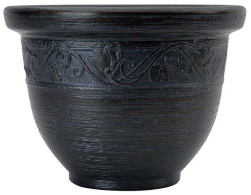 Listo 14-Inch Glaze Resin Pottery, Black Pearl ()