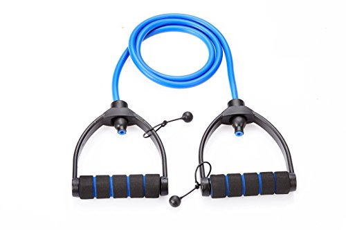 Fitster5 Premium Exercise Resistance Band with Adjustable Foam...