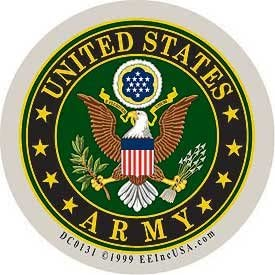 *NEW* AUTO DRIVE US ARMY MILITARY BRANCH DECAL Vehicle Emblem Crest Made in USA