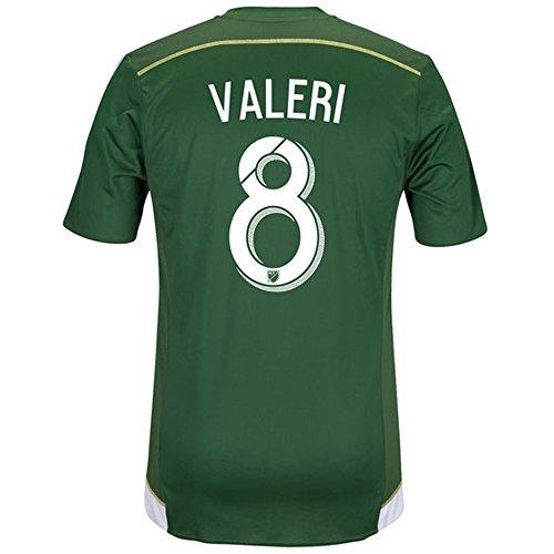作曲する結果電気Adidas VALERI #8 Portland Timbers Home Soccer Jersey 2016/サッカーユニフォーム ポートランド?ティンバーズ ホーム用 VALERI
