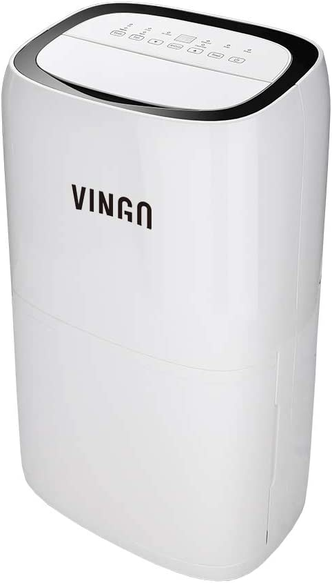 Hengda 26L Deshumidificador Compacto y Portátil Purificador de Aire Dehumidifier Bajo Consumo Silencioso función Secado