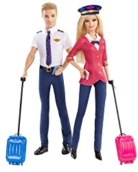 Barbie Careers Barbie & Ken Doll Pilots Giftset (2-pack)