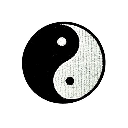 - Ximkee (5 Pack) Yin Yang Chinese Tai-Chi Embroidered Sew Iron On Applique Patches-2