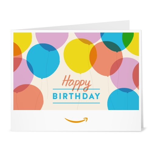 Amazon Gift Card - Print - Happy Birthday Balloons
