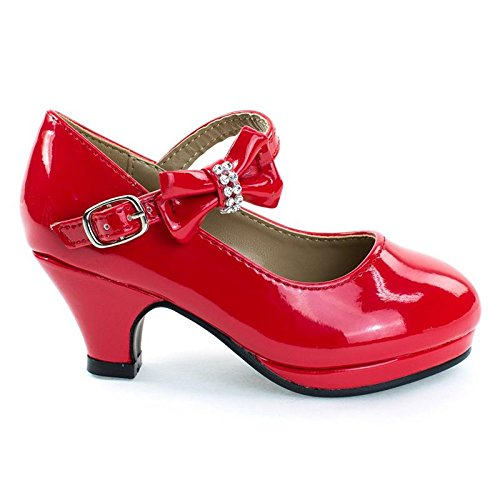 Forever Link Dana62K Red Girl Round Toe Mary-Jane Dress Pump w Platform. Children Shoes (Red Mary Janes For Girls)