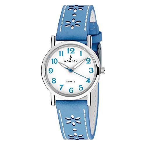 Reloj NOWLEY 8-5389-0-6 - Reloj juvenil chica 3 atm con caja de metal plateado, cristal mineral y correa de piel sintética.: Amazon.es: Relojes