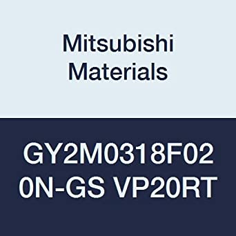 F Seat Pack of 10 0.008 Corner Radius 0.125 Grooving Width Mitsubishi Materials GY2M0318F020N-GS VP20RT Series GY Carbide Grooving Insert for Grooving//Cutting Off and Low Feeds 2 Teeth