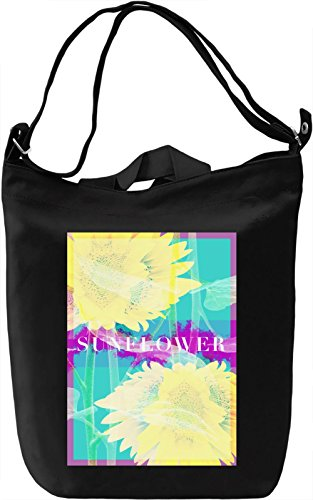 Sunflower Borsa Giornaliera Canvas Canvas Day Bag| 100% Premium Cotton Canvas| DTG Printing|
