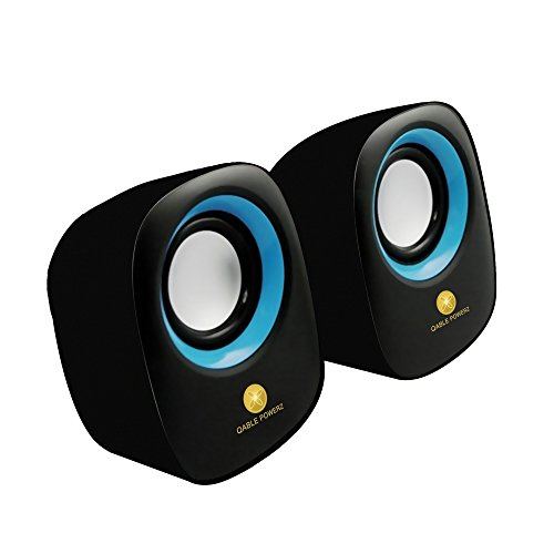 Computer Speakers, Premium Deluxe USB Powered Stereo Surround Sound Multimedia Computer Speakers with 3.5mm Audio Output Interface Heavy (External Computer Speakers)