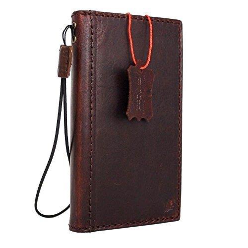 (Genuine Italian full real Leather Case for Iphone 7 Book Wallet Handmade Luxury Retro classic cover slim DavisCase)
