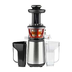 H.Koenig GSX12 - Licuadora para fruta y verdura de prensado en frio, extractor de jugos vertical, 400 W, 1 l