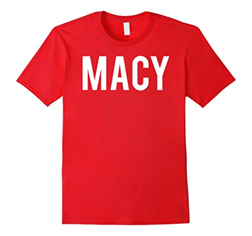 Mens Macy T Shirt - Cool new funny name fan cheap gift tee Large Red
