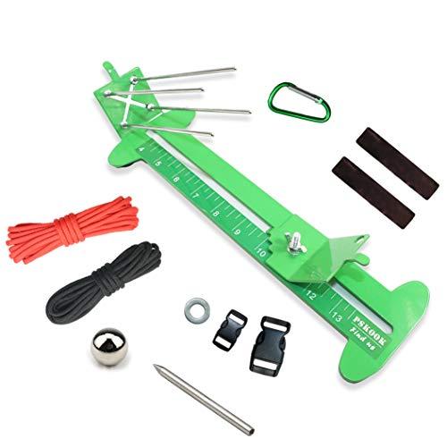 PSKOOK Paracord Bracelet Jig Kit Paracord Tool Kit Adjustable Length Metal Weaving DIY Craft Maker Tool 4 to 13 Solid Steel Accessories(Green)