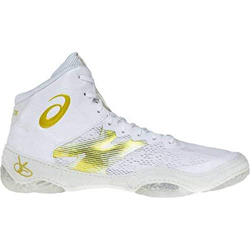 ASICS - Mens Jb Elite Iv Sneaker, Size: 10 D(M) US, Color: Brilliant White/Rich Gold