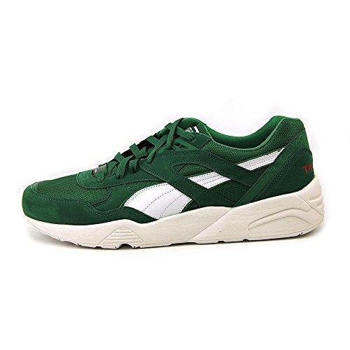Puma Hommes Trinomic R698 Mode Sneaker Vert / Blanc, 8 Dm Us