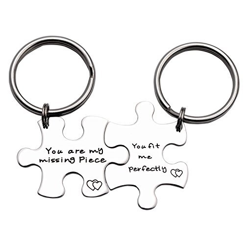 You Are My Missing Piece You Fit Me Perfectly Keychain Set (Keychain Set)
