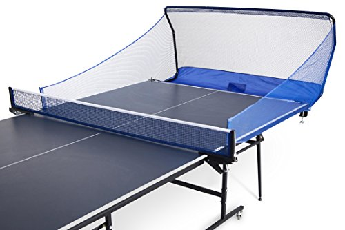 Powerfly Ping Pong Table Tennis Catcher Net - Portable Ball Catch Netting - Serve and One Player Training Practice Set - Compatible with Robot Trainer Equipment (Pong Pong Net)