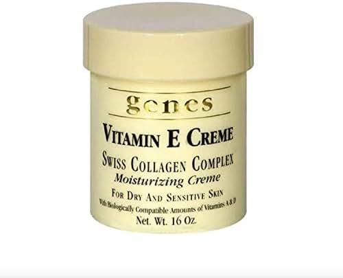 Genes Vitamin E Creme Swiss Collagen Complex Moisturizing Creme for Dry and Sensitive Skin 16 oz (2 Pack (16 oz.))