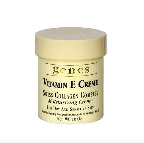 Genes Vitamin E Creme Swiss Collagen Complex Moisturizing Creme for Dry and Sensitive Skin 16 oz 2 Pack 16 oz.