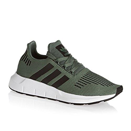 adidas Swift Run J, Zapatillas de Deporte Unisex Niños Verde (Vertra / Negbas / Ftwbla)