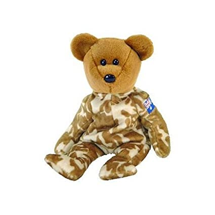 623d21af0db Amazon.com  TY Beanie Baby - HERO the Military Bear (Australia Exclusive  Version)  Toys   Games