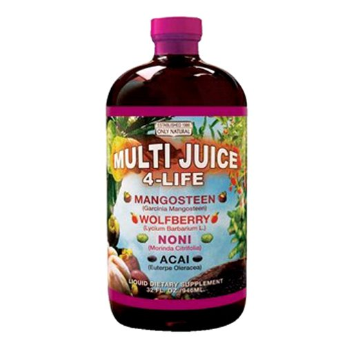 Only Natural Multi Juice 4 Life, 32-Ounce Glass Bottle
