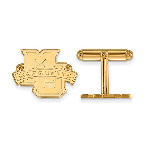 Marquette Cuff Links (14k Yellow Gold) by LogoArt