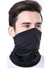 Summer Face Mask Protection from Dust, UV & Aerosols - Washable Neck Gaiter Balaclava, Bandana Face Cover UPF50++