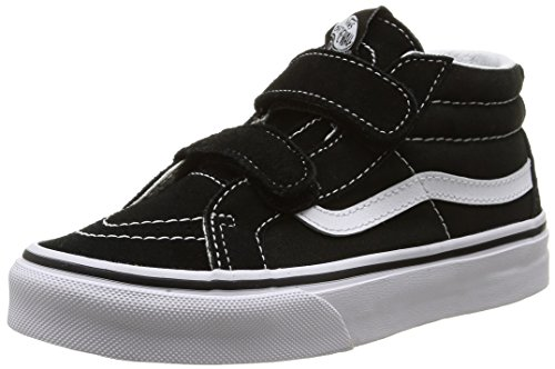 Vans Kids Sk8-Mid Reissue V Skate Shoe Black/True White 4