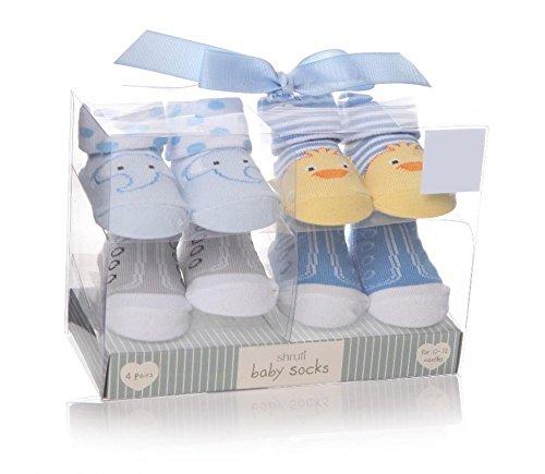 Shruti bebé zapatillas calcetines azul–Juego de 4