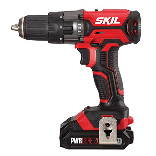 SKIL 20V 1/2 Inch Hammer Drill, Includes 2.0Ah PWRCore 20 Lithium Battery and Charger – HD527802 For Sale