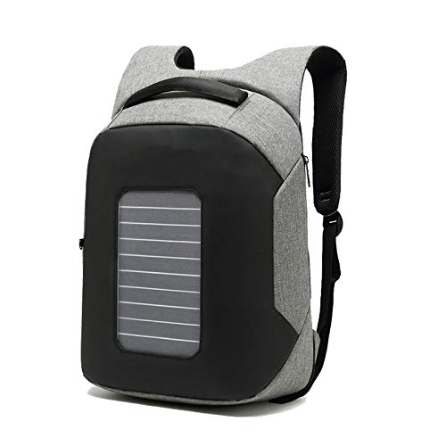 FARAZ Solar Backpack Waterproof and Anti-Theft, perfect for carrying laptop to work or school (Solar Laptop Charger)