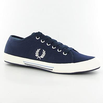Fred Perry Vintage Tennis Blue Mens Canvas Trainers Size 9