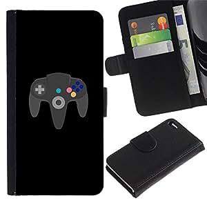 All Phone Most Case / Oferta Especial Cáscara Funda de cuero Monedero Cubierta de proteccion Caso / Wallet Case for Apple Iphone 4 / 4S // GAMING FOREVER N64