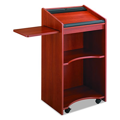 (Safco Products 8918CY Executive Mobile Lectern, Cherry)