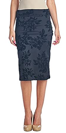 Popana Womens Pencil Skirt Knee Length for Work or Office - Made ...