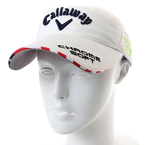 Callaway(キャロウェイ) メンズ ゴルフ サンバイザー ツアーバイザー18JM (2478990600) ホワイトXネイビー フリー