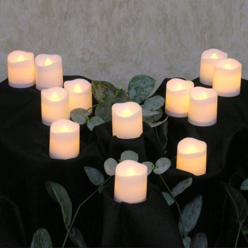 ELEOPTION Indoor Outdoor Flameless Resin Pillar Led Candle with Hour Timer (20, Melted Shape, 3 Inch) by Eleoption